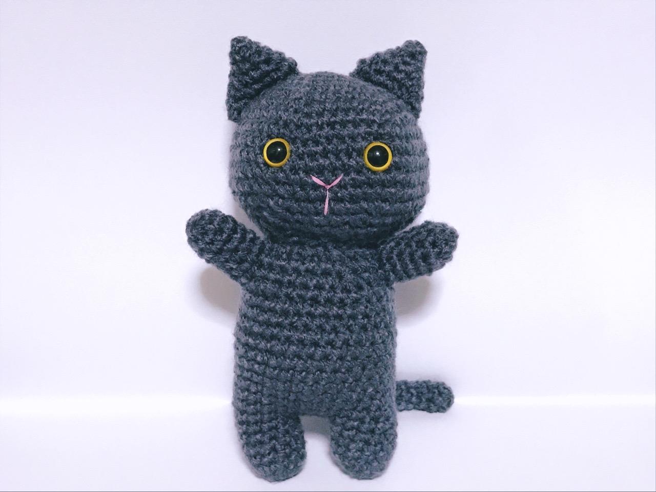 編みぐるみ猫1